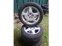 """Mercedes C-CLASS alloy wheels - TWO WINTER NOKIAN WRD 3 TYRES - 16"""" 205/55/16"""