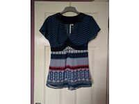 Ladies Crew Clothing sheer top - Size 6