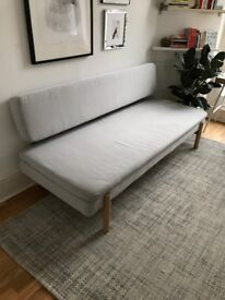 Grey IKEA YPPERLIG Three-seat sofa-bed