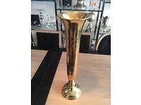 Gold long thin vase - three available
