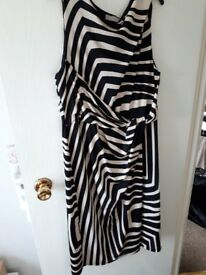 Black and White Striped Planet Dress