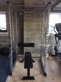 Gymano Pro Power Rack With Weights, Bar and Bench