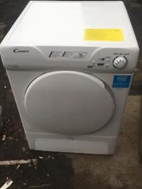 Candy 9kg condenser dryer like new