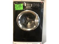 BEKO 8KG DIGITAL SCREEN WASHING MACHINE IN BLACK