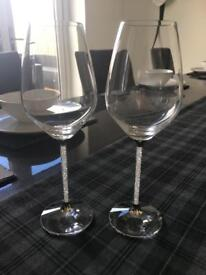 Genuine Swarovski Crystal Wine Glasses - RRP £260