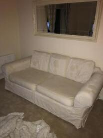 Three seater cream sofa (cash on collection)