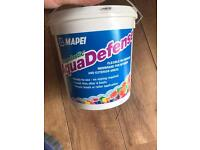 Mapei aquadefense tanking/waterproof membrane for bathrooms and wet rooms.