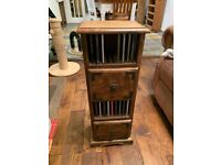 Lovely solid wood rustic 4 level CD storage unit .