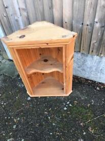 Small pine corner cupboard