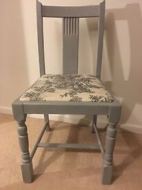 Light Blue Reupholstered Chair