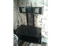 "20-55"" TWO TIER GLASS TV STAND"