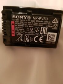 SONY NP/FV50 CAMCORDER/CAMERA BATTERY