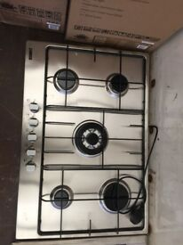 Zanussi Stainless Steel 5 Burner Gas Hob New and Unused