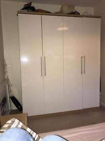 4 door gloss wardrobe