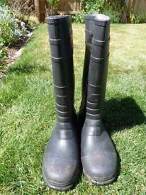 Blackrock Safety Wellington Steel Toe Cap & Midsole - Mens PVC Work Wellies 41+