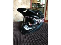 Bell MX-9 size medium motocross helmet with spy goggles