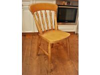 Beech Farmhouse Chairs (4) All Spindle Backs