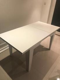 White wood dining table 6 seater