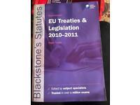 EU treaties &a Legislation 2010-2011. Nigel foster