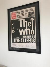 The WHO numbered and framed limited edition poster