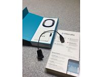 Hardly used Fitbit Alta fitness wristband with blue strap - size Small - in original packaging