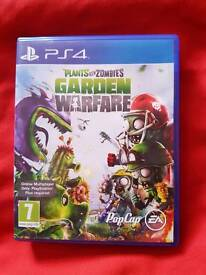 Ps4 games Terraria Minecraft story mode and Plants vs Zombies Garden warfare
