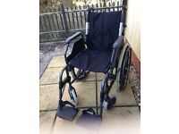 Sunrise Medical 'Breezy 200' foldable wheelchair in immaculate condition