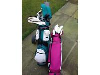 1 LADIES AND 1 GENTS SETS OF GOLF CLUBS
