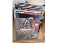 Van Halen, Ozzy Osbourne +32 more, 12 ins vinyl album records