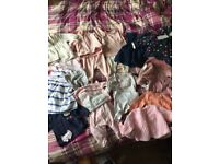 0 to 3 months girl clothes. Everything you will need.