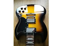 Epiphone SG400 guitar. Vintage sunburst colour, right handed, Immaculate, boxed