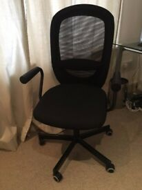 IKEA Black Swivel Desk Chair