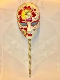 Venetian Mask, hand painted Italian original, mint, unused.