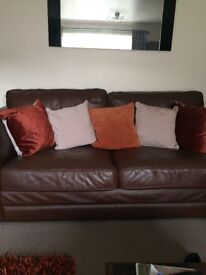 3*2 leather sofas