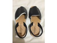 LADIES MENORCA FLAT SLINGBACK, OPEN TOE SPANISH SANDALS - BRAND NEW