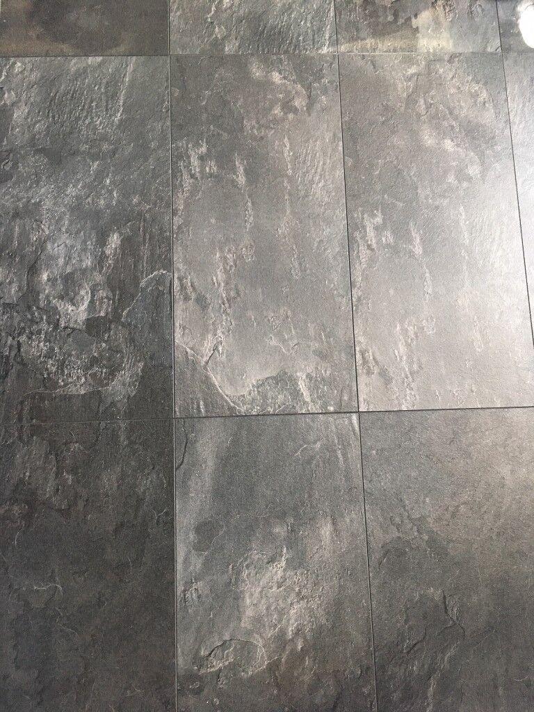 Harmonia Black Slate Effect Laminate Flooring