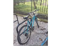 MUST SELL Blue Raleigh road bike wth basket from The Bike Station Edinburgh - helmet and D lock