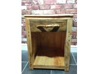 Handmade solid wood side table