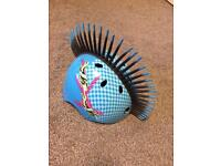 Kids cycle helmet blue with Mohawk size large