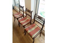 Elegant vintage dining chairs (3)