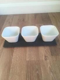 Slate & Ceramic Nibble Bowls