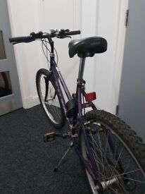 """Used """"Raleigh - Enigma"""" Mountain Bike for women. Perfect conditions and well conserved for only £75."""