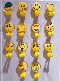Emoji expression toothbrush holder sucker suction cup kids bathroom wall (14 Set)