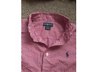 Ralph Lauren red & white boys shirt