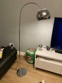 Curva chrome floor lamp