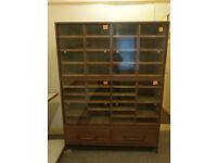Upright haberdashers cabinet