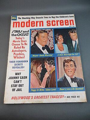 1970 August MODERN SCREEN Magazine Full Issue JOHN WAYNE & DEAN MARTIN Cover