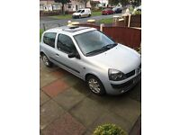 Renault Clio, Silver, 52 plate, very good condition