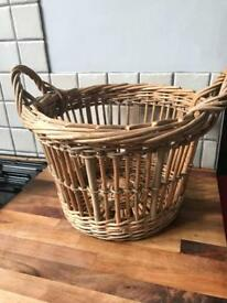 REDUCED Lovely Small Wicker Log Style Basket