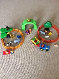 Playmobil 1.2.3 Zoo/Farm Set